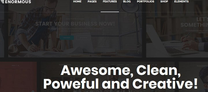 Enormous Business - Responsive Multi-Purpose WordPress Theme