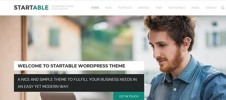 Startable - Responsive WordPress Theme for Startups