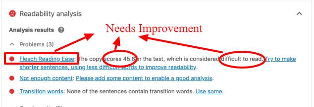 flesch reading improvement