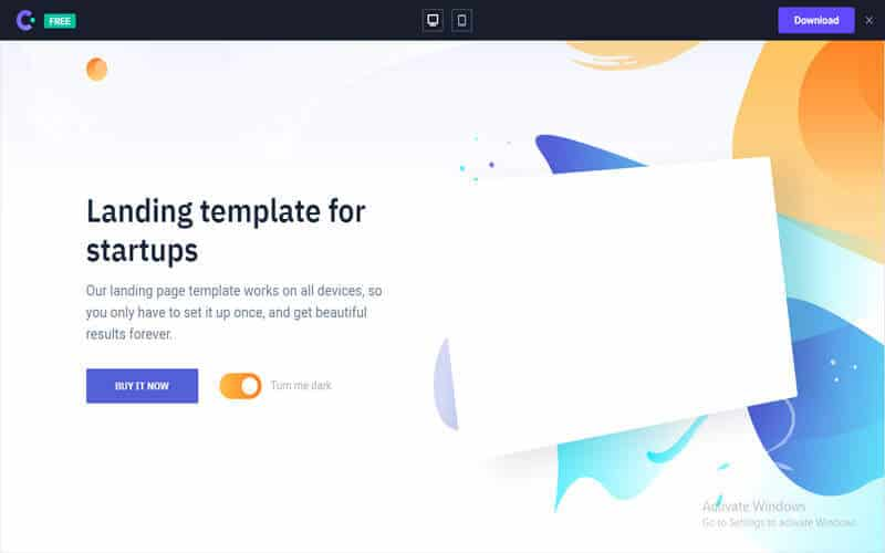 Switch website for free templates