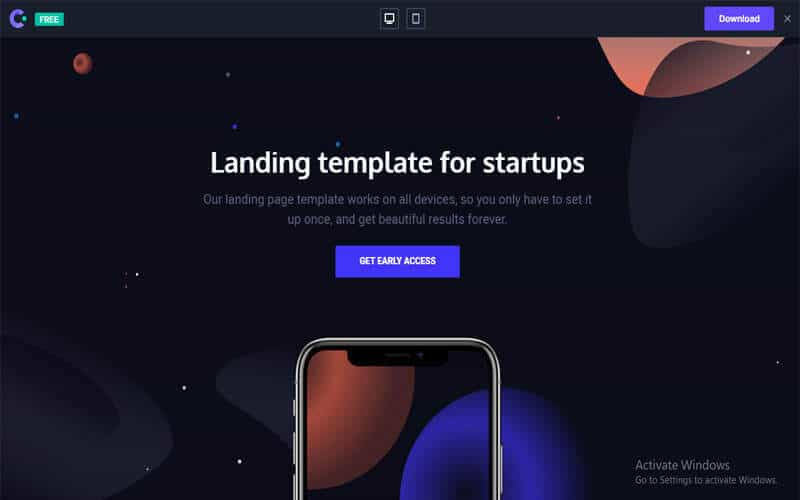 Venus website for free templates