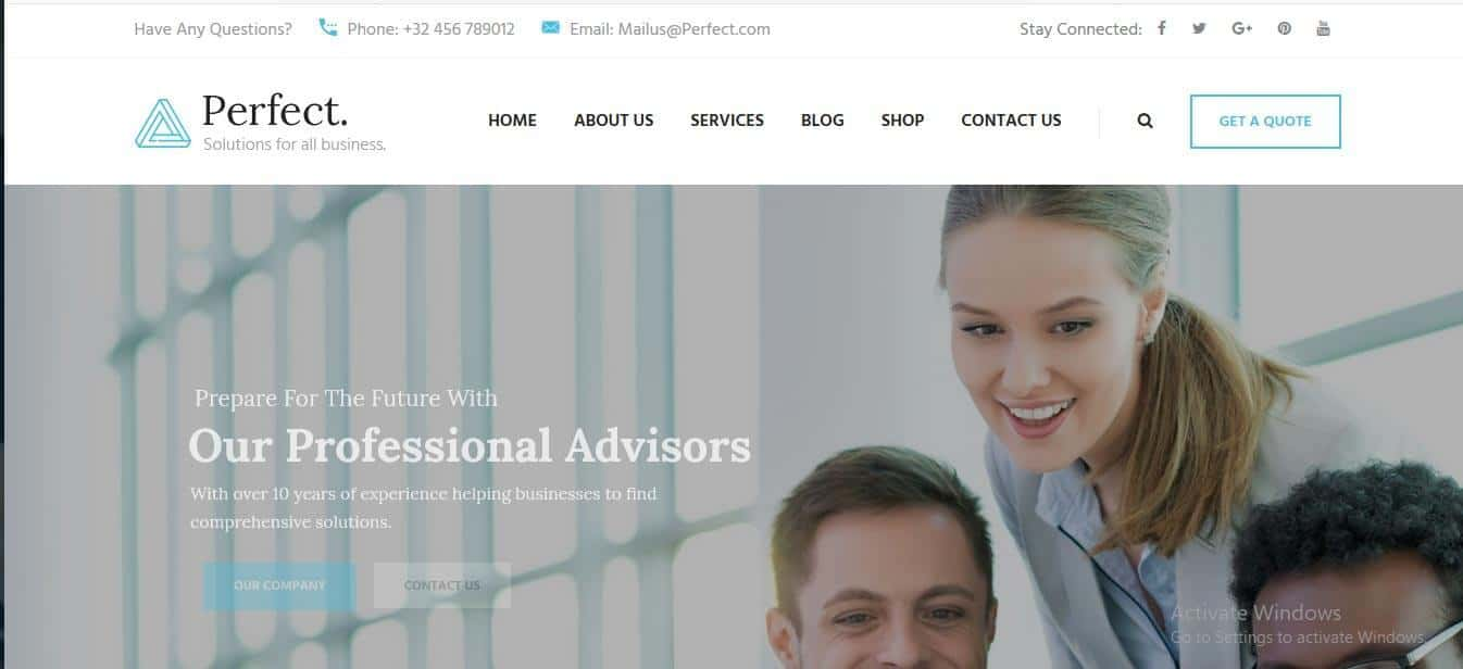 Professional WordPress themes based on bootstrap for consulting business