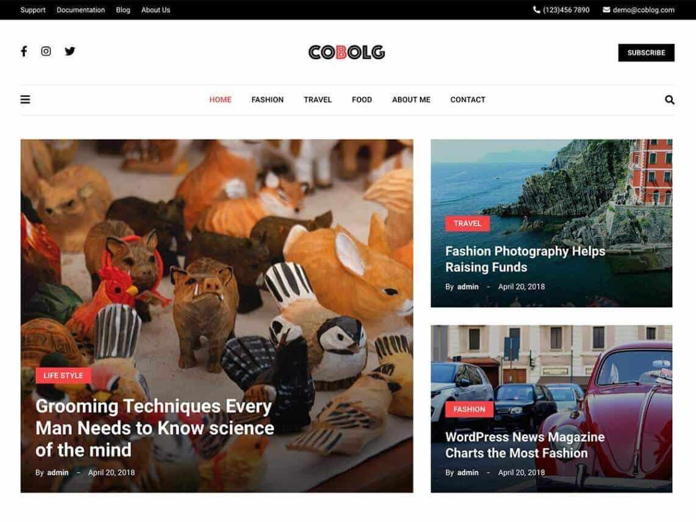 Coblog blog theme preview