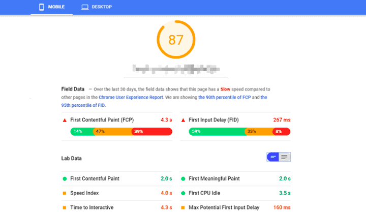 google insights speed checker