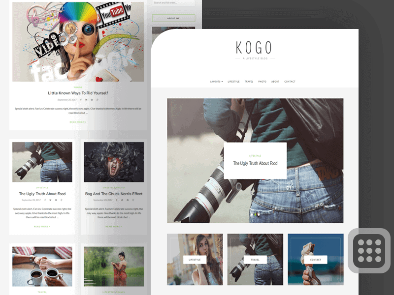 preview screenshot of KOGO professional WordPress blog themes