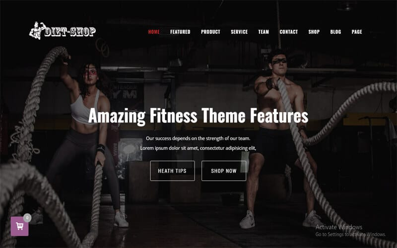 Screenshot of a picture of the theme of Diet-Shop Gym, Weight Loss & Health Supplement WordPress Theme