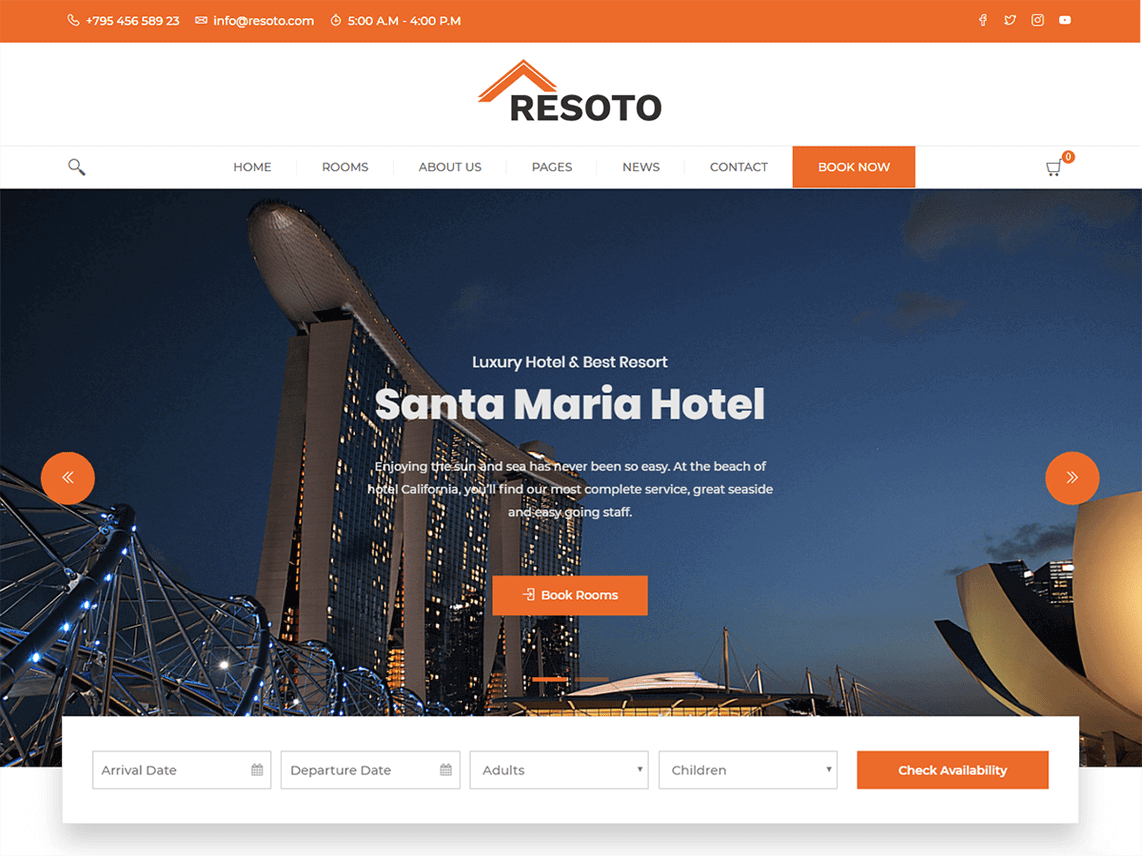Screenshot of a picture of the theme Resoto