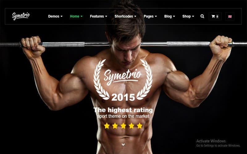 preview screenshot of Symetrio - Gym & Fitness WordPress Theme