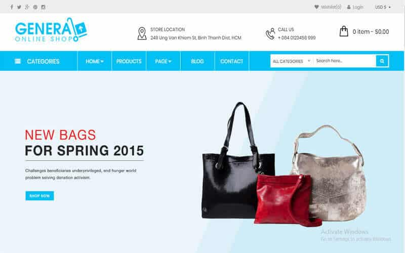 Screenshot of a picture of the theme of WooCommerce Responsive Premium Theme - WP General Mart eCommerce Websites