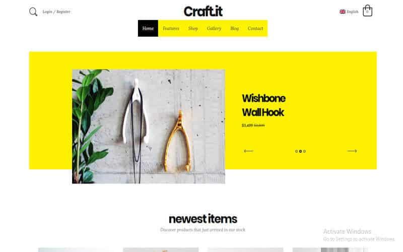Preview screenshots of Craftit Artisan Shopping Theme