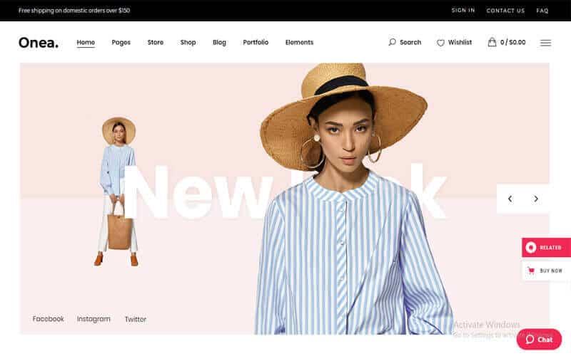 Preview screenshots of Onea - Elegant Fashion Shop