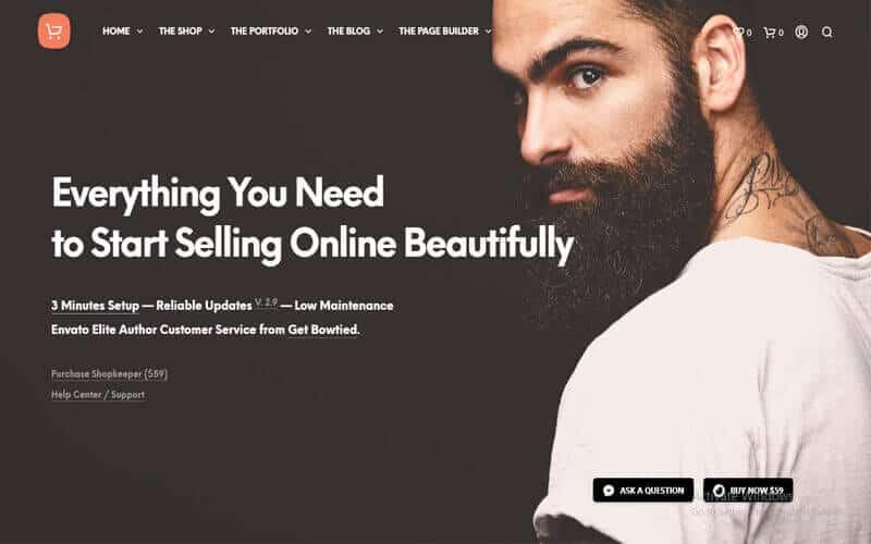 Preview screenshots of Shopkeeper - eCommerce WordPress Theme for WooCommerce