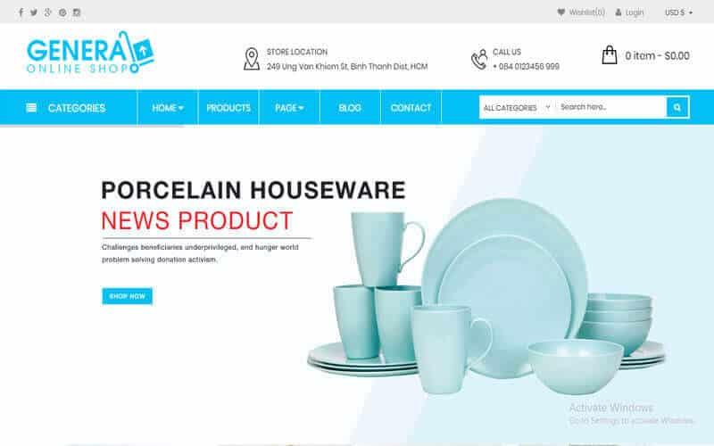 Preview screenshots of WooCommerce Responsive Premium Theme - WP General Mart eCommerce Websites