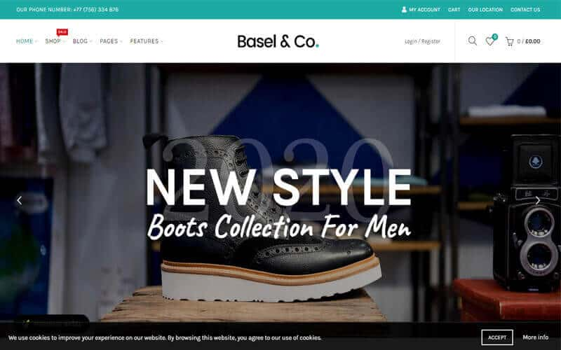 Preview screenshots of Basel - Responsive eCommerce Theme