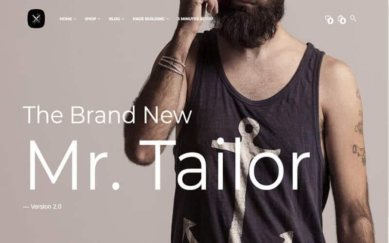 Preview screenshots of Mr. Tailor - eCommerce WordPress Theme for WooCommerce