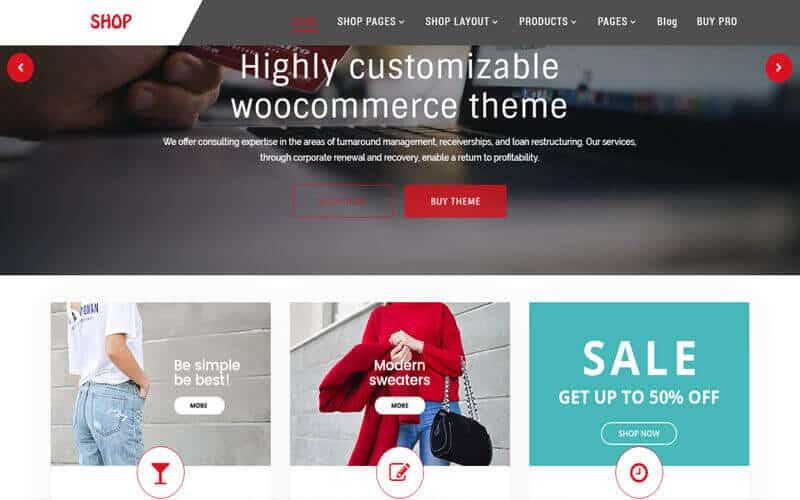 Preview screenshots of Multipurpose Shop