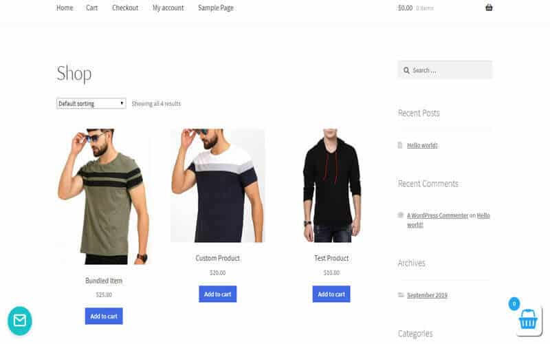 Preview screenshots of WooCommerce added to cart popup [Ajax]