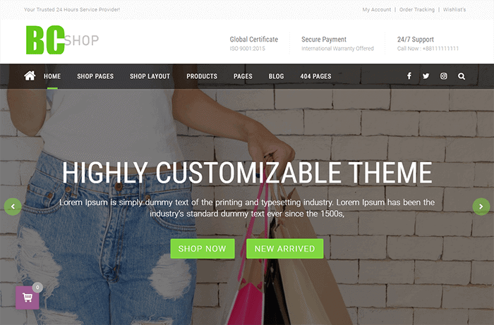 BC Shop WordPress Theme