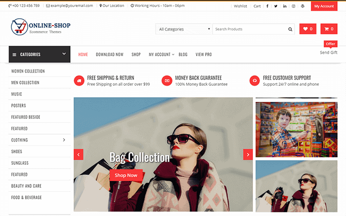 Online Shop - Highly Customized WordPress E-Commerce Theme