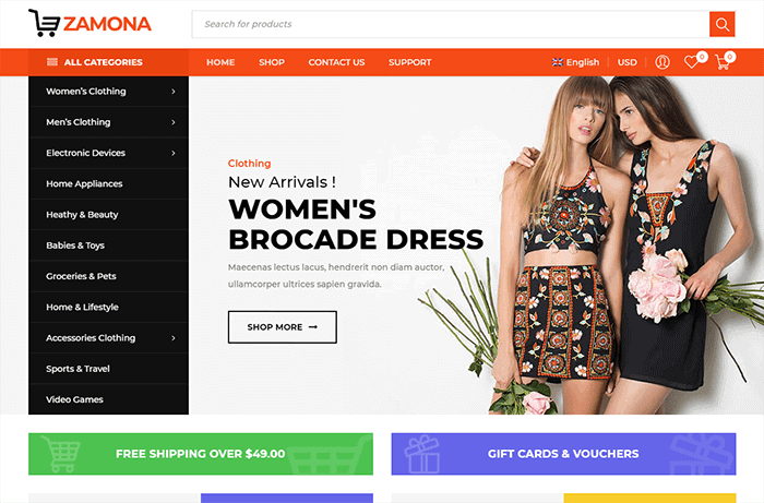 Zamona - Responsive WooCommerce WordPress Theme