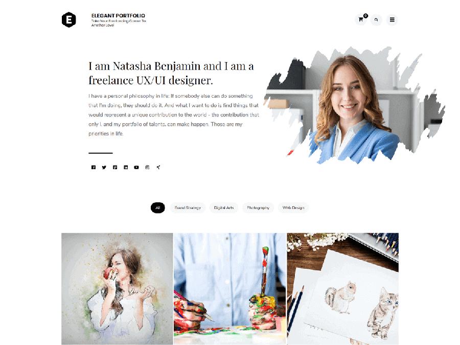 elegant portfolio