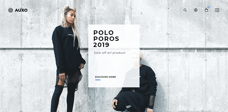 Preview screenshots of Auxo – Minimal WooCommerce Shopping WordPress Theme