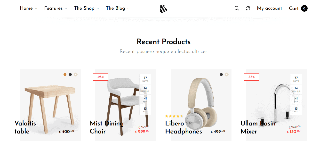 Preview screenshots of Barberry - Modern WooCommerce Theme