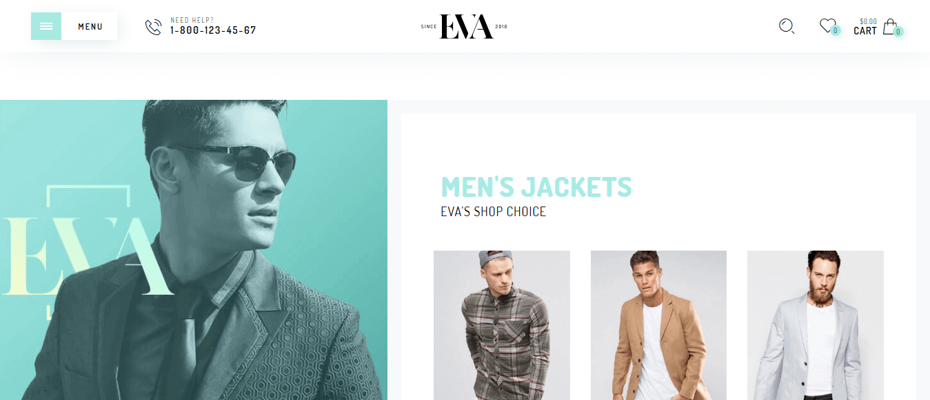 Preview screenshots of Eva - Fashion WooCommerce Theme