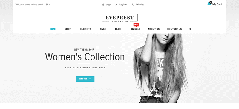 Preview screenshots of Eveprest - Fashion Shop WooCommerce WordPress Theme
