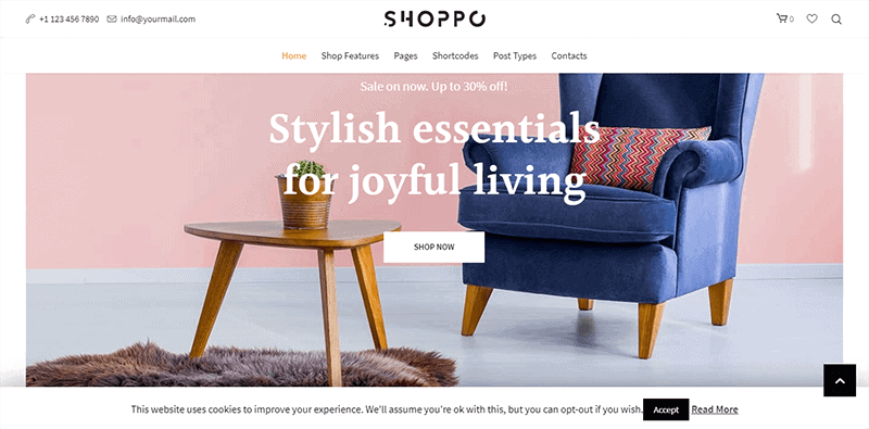 Preview screenshots of Shoppo - Multipurpose WooCommerce Shop Theme