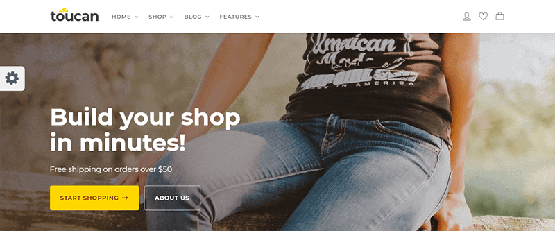 Preview screenshots of Toucan - WooCommerce theme for WordPress shop