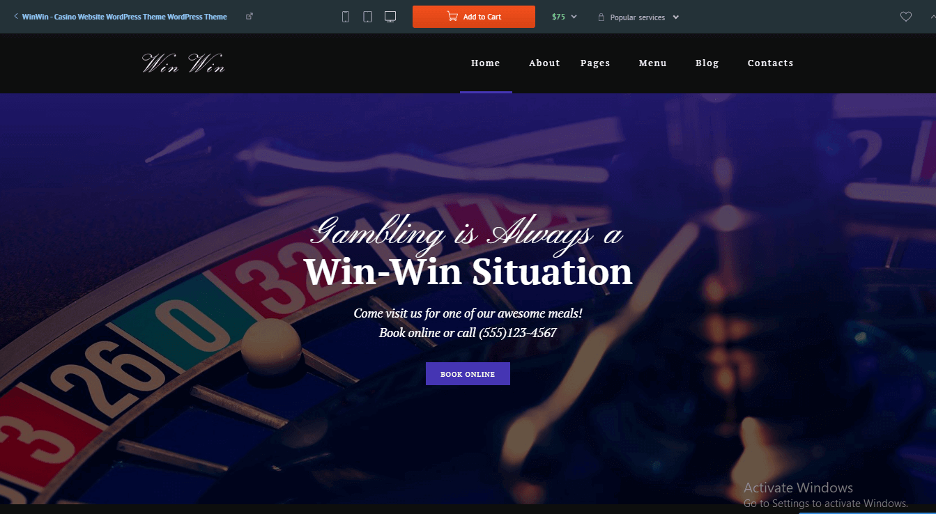 WordPress Casino theme to Earn Money by Online Casino Affiliate Website