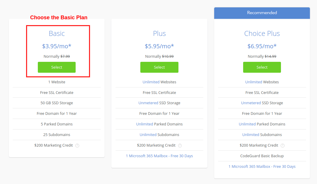 choose wordpress hosting plan