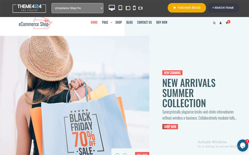 Screenshot for the theme called eCommerce Shop Pro WooCommerce Multi-Purpose WordPress Theme