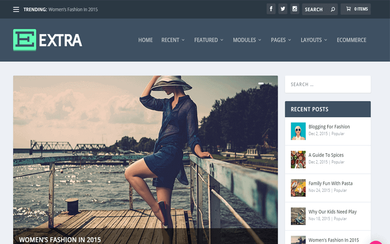 Screenshot for the WooCommerce WordPress theme of Extra Theme The Ultimate Magazine WordPress Theme and Visual Page Builder