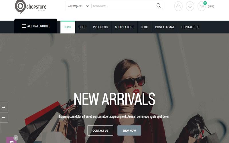 Screenshots for the theme called ShopStore WordPress Theme