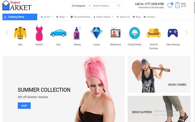 Supermarket Free - Best Free Shopping, Store & eCommerce WordPress Theme