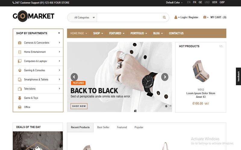 Screenshots for the WordPress Store theme of WooCommerce Supermarket Theme GoMarket