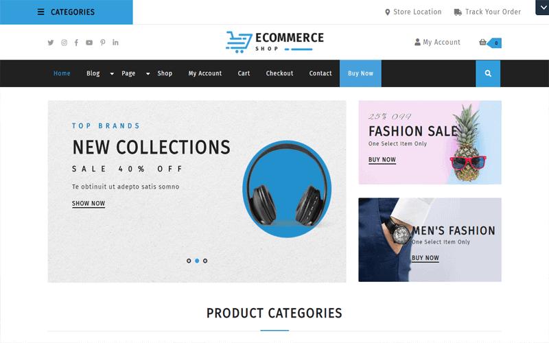 Screecshots for the theme of WordPress Ecommerce Theme