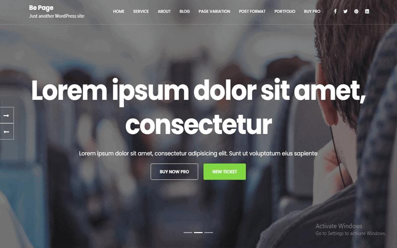 Be Page Multipurpose WordPress Theme