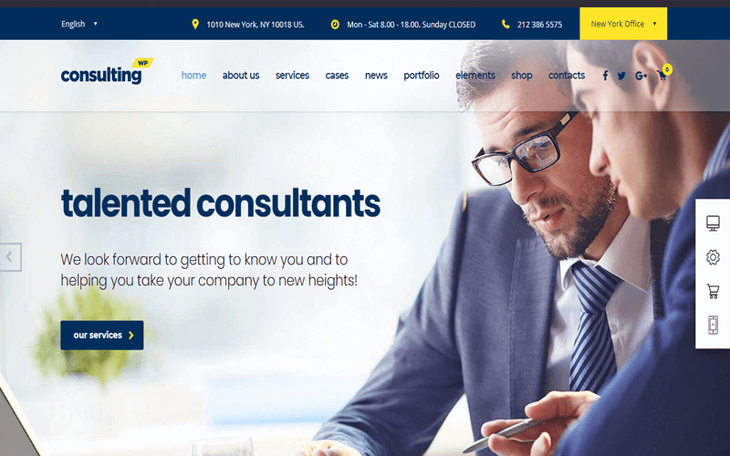 Consulting Business, Finance WordPress Theme