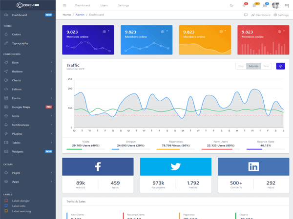 Image of CoreUI Free Bootstrap Admin Template