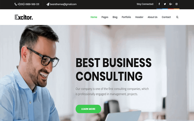 Excitor Business WordPress Themes