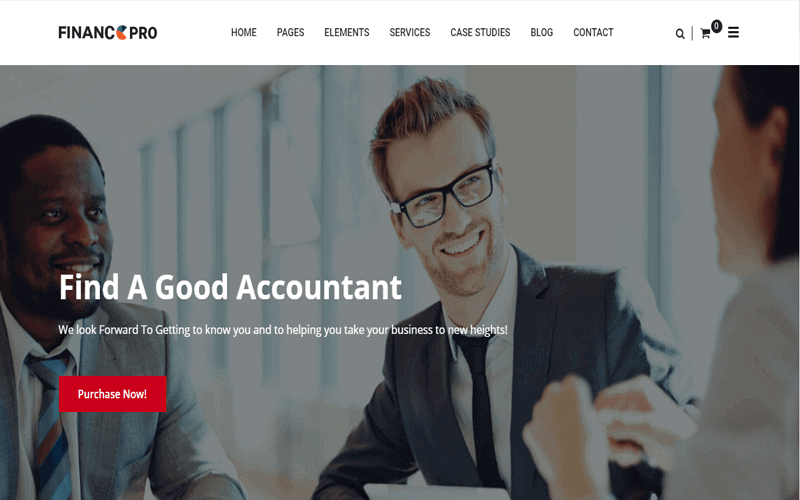 Consulting WordPress Theme Finance Pro