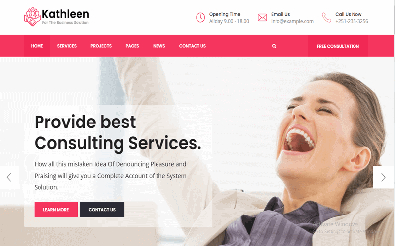 Kathleen Business WordPress Theme