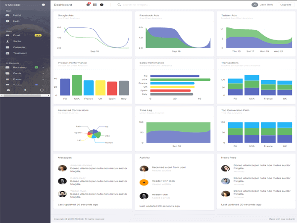 Stacked - Bootstrap 4 Angular Admin Template