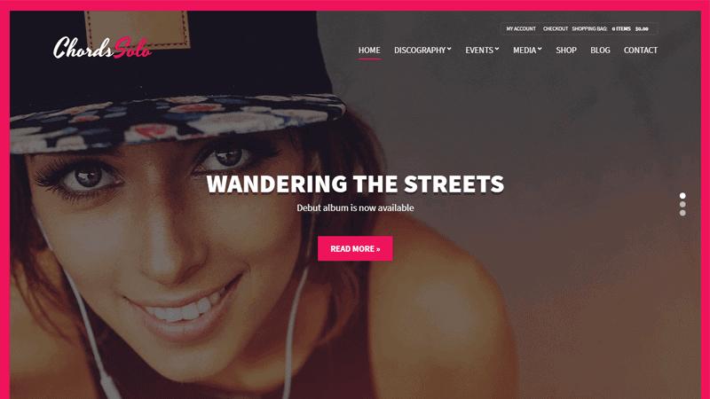 Chords - Music/Artist/Radio WordPress theme