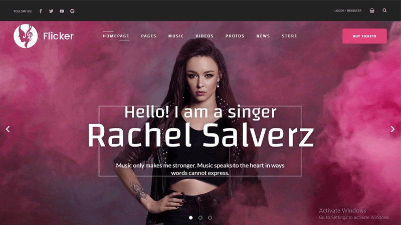 Flicker - Simple WordPress theme