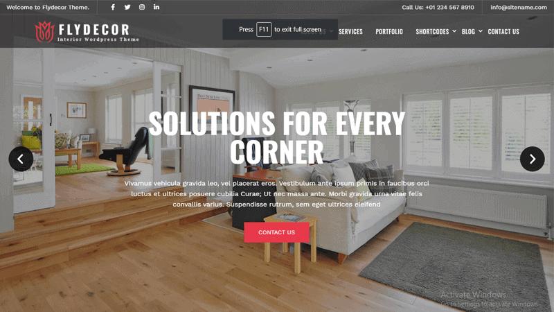 Image of Flydecor WordPress theme