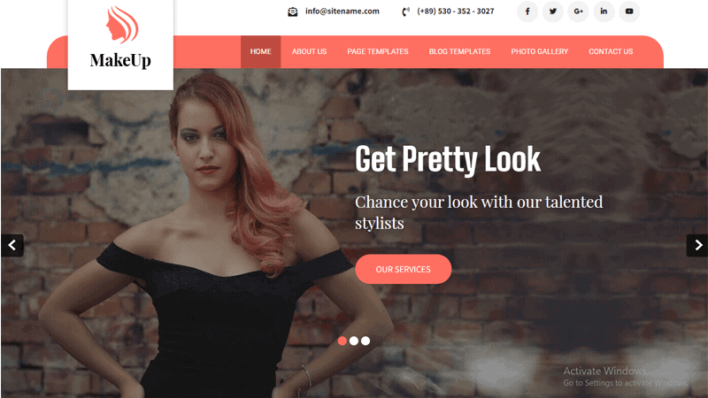 Image of Makeup Lite simple WordPress themes